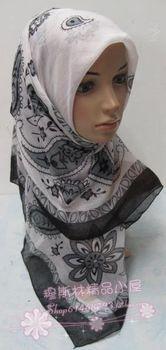 Cashew flowers Voile breathable square Scarf 110cm x 110cm muslim bandanas hijab hats kerchief