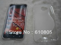 For HTC Droid DNA X920E S-Line Anti-skid Design S Line Soft Gel TPU Case S Style Non-slip Back Cover Many Color