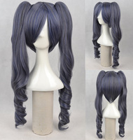 "Black Butler Ciel Phantomhive Girl Light Black 22"" Cosplay Wigs With Two Ponytail Japan Natural Synthetic Cosplay Wigs"