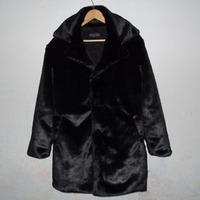 Imitation mink marten velvet thermal winter outerwear faux men's clothing faux fur overcoat male leather clothing