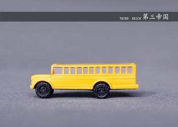 Safari car model school bus school bus model decoration