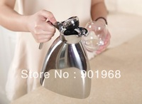 12-24 hours keep hot or cold 1000ml  round trigon shape  stainless steel double walls Vacuum jugs-2pcs/lot