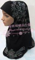 Pure Solid color exquisite fashion rhinestones aircraft cap muslim bandanas hijab hat multicolor