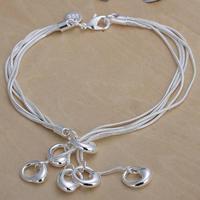 Free Shipping Fashion Bracelet Silver Jewelry jewellry 2013 Charm Tag Chain Bracelets Brand New SPCH115