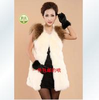 Vest female autumn and winter fashion all-match faux vest faux fur vest medium-long