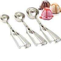 Full sizes hard ice cream scoops, ice cream spoons stacks, 4cm 5cm 6cm 3sizes/lot for ice cream, free shipping, hot sale