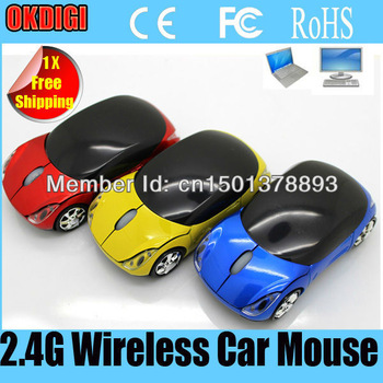 Top-selling Colorful New design 2.4G Car Wireless Optical Mouse Mice for Laptop PC  JP511