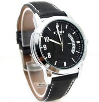 HK POST 30m water proof fashion round quartz analog black wrist watch wristwatches for men, wholesale, free shipping MP1