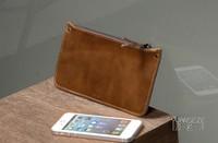 Leather cowhide genuine leather wallet men wallet long paragraph Clutch bag tide brand men wallet