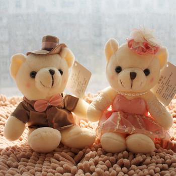 Wedding gift marriage wedding car doll lovers gift Teddy Bear plush toys 15cm+free shipping