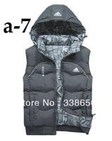 Men detachable cap cotton vest male vest leisure vest men down.    fghdmjdgh A175