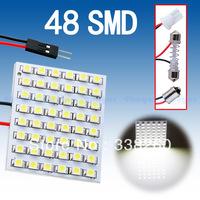 48 SMD Pure White Light Panel T10 BA9S Festoon Dome 48 LED Interior Bulb Lamp Parking Car Light Source