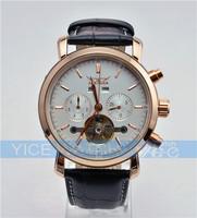 Free Shipping Drop Ship 2013 TOP BRAND Men's Luxury watch Auto Mechanical Date Tourbillon Mens Wrist Watch Free shipping