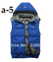 Men detachable cap cotton vest male vest leisure vest men down.    ukvgbo;k A175