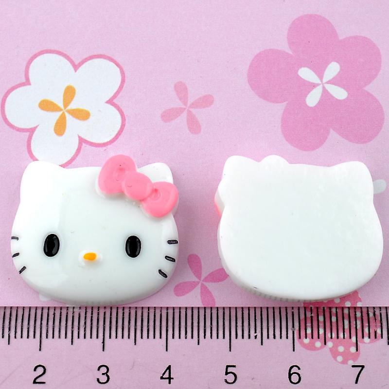 Free Shipping 20Pcs Resin Bowknot Hello Kitty Flatback Cabochon Scrapbooking(China (Mainland))