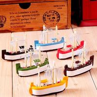 48pcs/lot Wholesale High Quality Mediterranean Sailing Handmade Boat Knick Knacks Resin Fridge Magnet Refrigerator Stickers