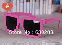 Crazy price!!!Hot sale glasses mosaic general sunglasses big vintage plate sunglasses box free shipping