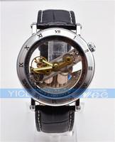 JARAGAR Luxury Auto Mechanical Watch, Roman Number Tourbillon Mens Watch, free shipping