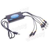 4 Channel USB 2.0 DVR Video Audio Capture Adapter CCTV Security US-1004A  20754