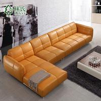 Lim furniture leather sofa leather sofa modern living room corner sofa combination of personalized fashion WQ6909
