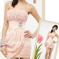 New Fashion Pink Rose Sexy Strapless Demitoilet Ladies' Skirt 20341