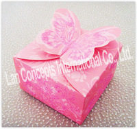 Free shipping DIY Wedding Candy Box Party Favor Packing - 120pcs/lot LWB0290 purple