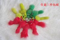 Chromophous fox fur charm accessories