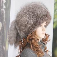 2012 women's fox fur cap