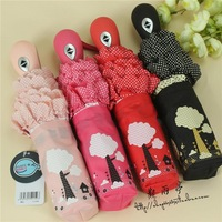 Min.order is $10 (mix order) free shipping,2013 New Cute folding umbrella full automatic umbrella UV sun umbrella