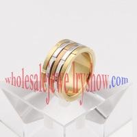 Elegant gold stainless steel ring
