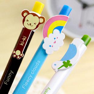 Korea stationery animal cartoon ballpoint pen style pen 6g(China (Mainland))