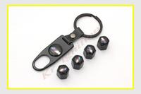 5pcs/set Style Universal Chrome Metal Car Tire/Wheel Rims Stem Valve CAPS & Wrench Key Chain For BMW ///M All Models Wholesales