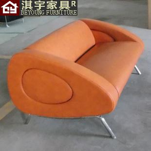Qi Yu Furniture Modern Simple designer fashion furniture leather sofa small apartment living room sofa double digit(China (Mainland))