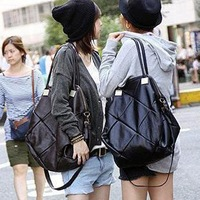 Women's bag female bags fashion patchwork plaid bag women's handbag messenger bag