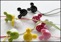 Holiday Price100pcs/lot 9 Colors Can Choose Mickey Earphone in Ear Earphone Headphones Free Shipping
