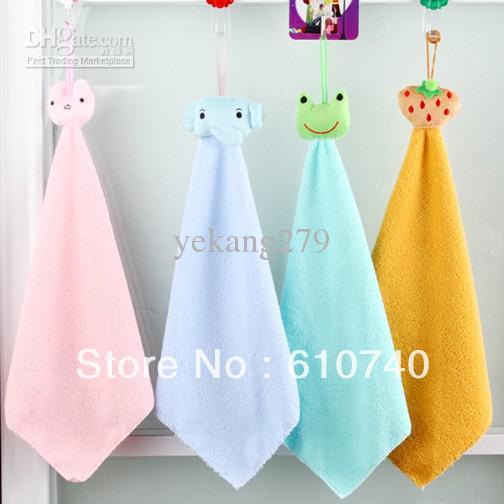 Wholesale - Cute Cartoon Hand Towel Cleaner Washcloth Loop Towel Facecloth Car Washing Cleaning Towels 20pcs(China (Mainland))