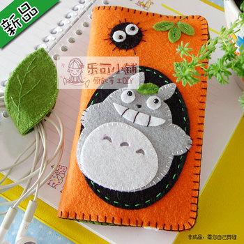 Material kit diy handmade totoro mobile phone bag set handmade fabric material  for SAMSUNG   kit mobile phone