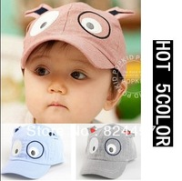 Free Shipping animal dog shaped knitted baby cap boy girl winter hat for child to keep warm 5 colors hats is children's