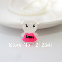 Free shipping!  50 pcs  kawaii honey bear  resin  DIY accessories decoration 20*27mm