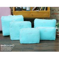 Hot Sale! Travel bag finishing bag storage bag fashion travel bag five pieces per set free shipping