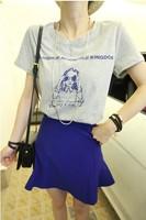2013 summer t-shirt slim shirt t-shirt female summer t-shirt sunglasses d33
