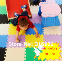 WM018 Hot-sellingSolid color design  Eva Puzzle Floor Mat for baby, 10pcs/lot,mix order packed in bulk
