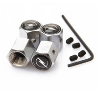 Opel Anti-theft Chrome Car Wheel Tire Valve Stem Caps