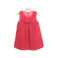 Children Girls Tank Dress Sleeveless Bow Girl Dresses worsted Kids One-piece Dress Free Shipping New Autumn Winter 2013