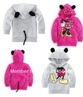 New Fashion Boys Girl Hoodie Long Sleeve Hoodies Mickey Minnie mouse cartoon top kids t shirts children's casual sweatshirt