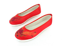 Classic fashion multi-layered women's shoes sole cotton-made beijing shoes traditional embroidered shoes comfortable single