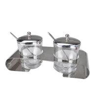 Nordic style brief seasoning rack glass spice jar stainless steel seasoning box