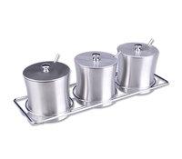 Quality stainless steel kitchenware spice jar set