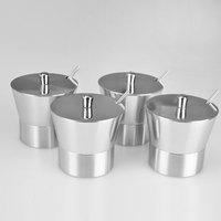 4pieces/set stainless steel spice jar seasoning box sauce pot