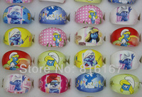 Free shipping Newest Design wholesale mixed lots 100pcs pretty lovely cartoon resin Children rings r3026